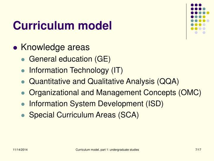 Curriculum model