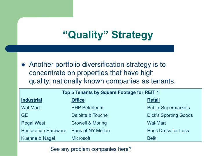 """Quality"" Strategy"