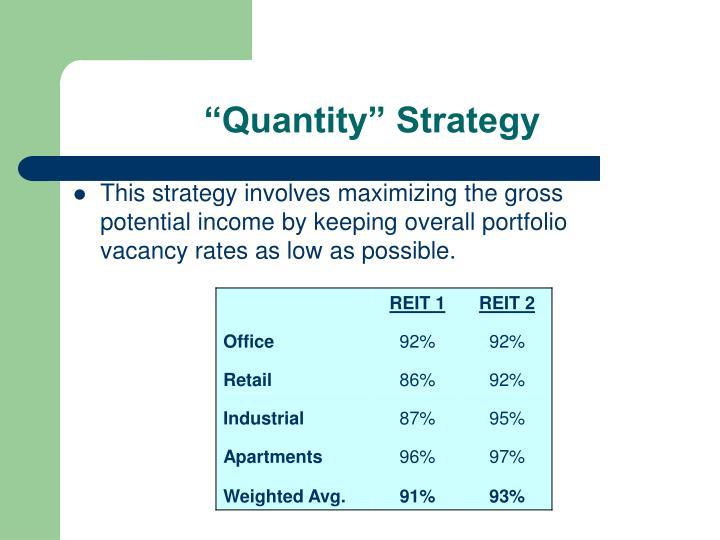 """Quantity"" Strategy"