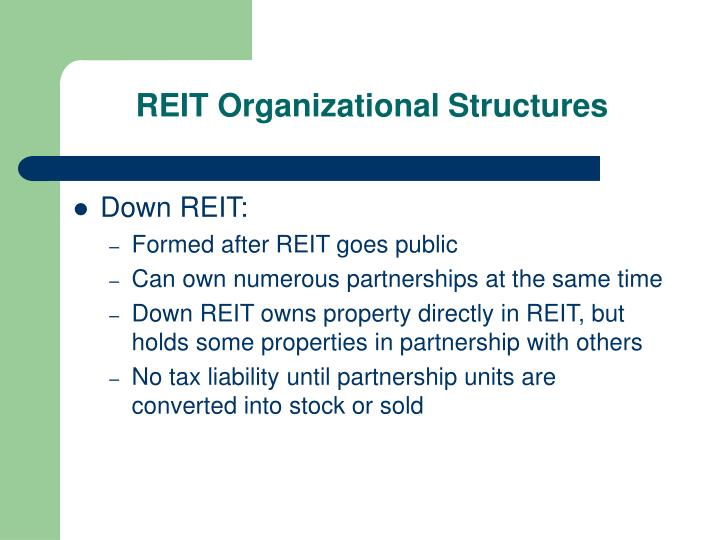 REIT Organizational Structures