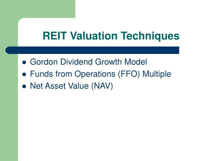 REIT Valuation Techniques