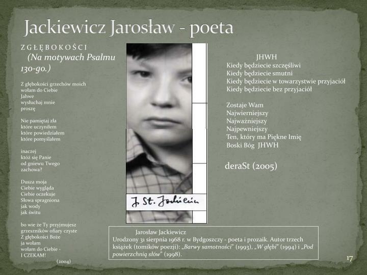 Jackiewicz Jarosław - poeta