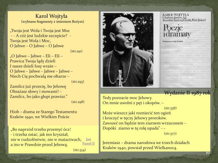 Karol Wojtyła - Jehowa