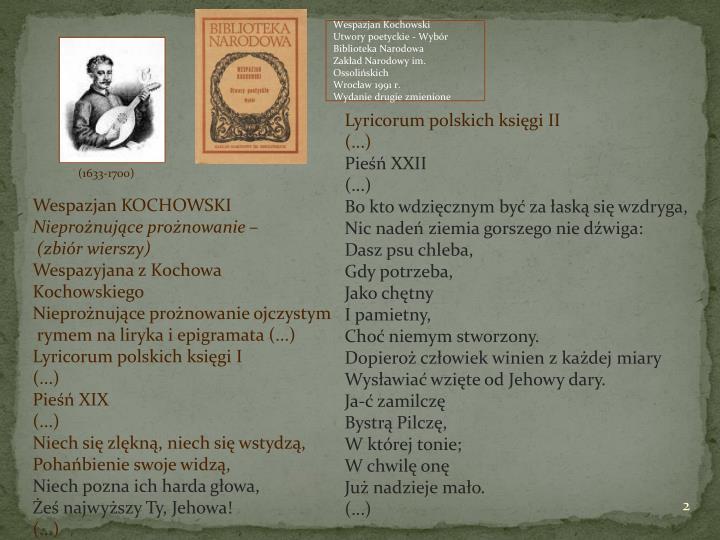 Kochowski Wespazjan