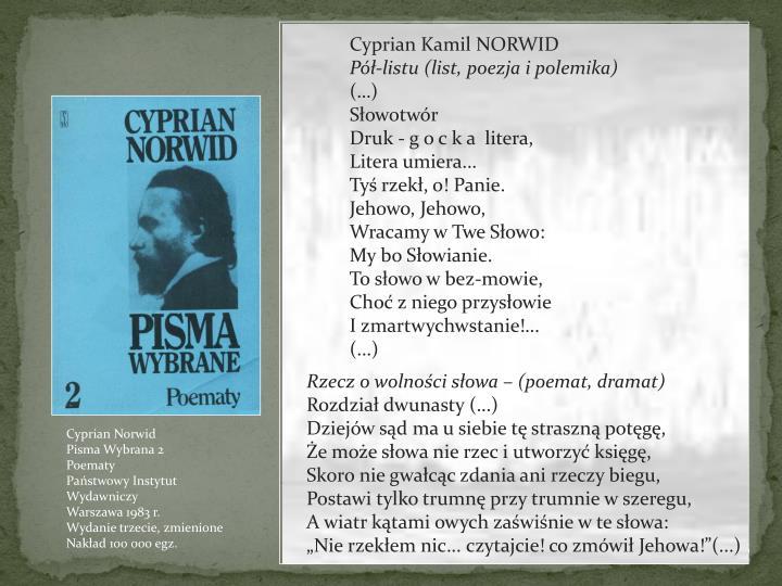 NORWID Cyprian Kamil