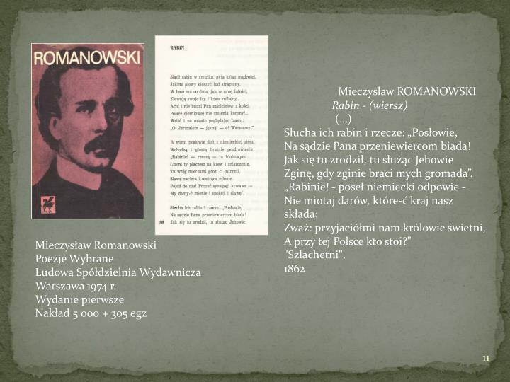 ROMANOWSKI Mieczysław