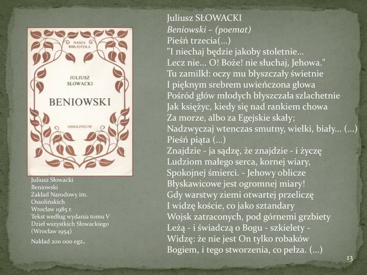 SŁOWACKI - Beniowski