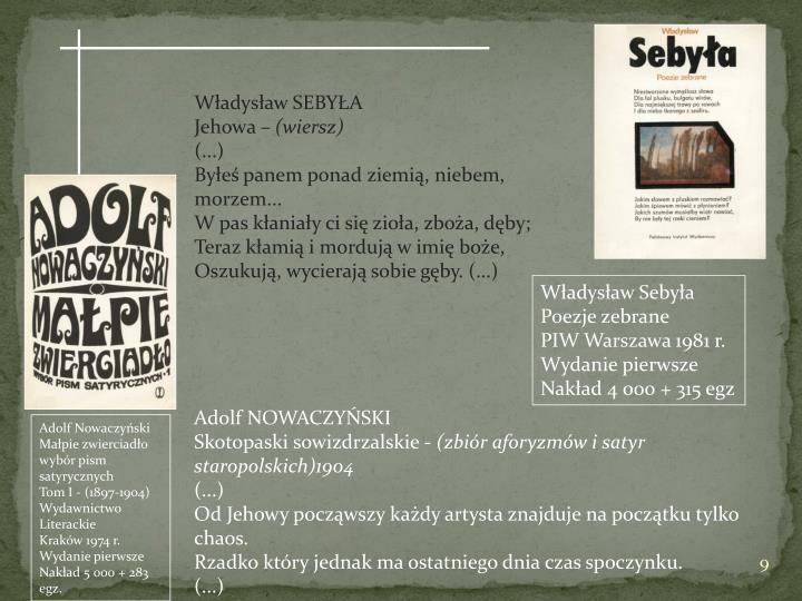 SEBYŁA Władysław