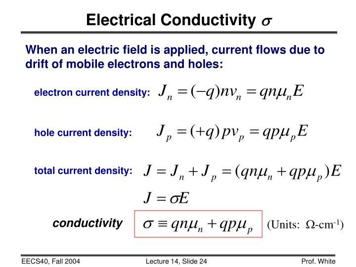 electron current density: