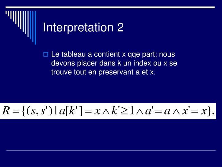 Interpretation 2
