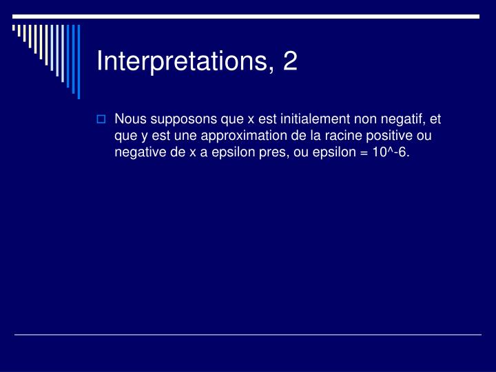 Interpretations, 2