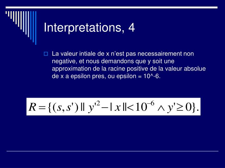 Interpretations, 4