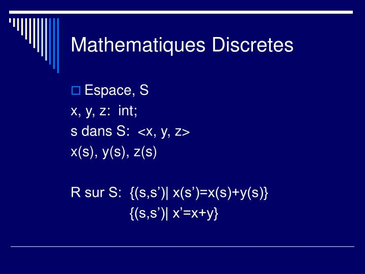 Mathematiques Discretes