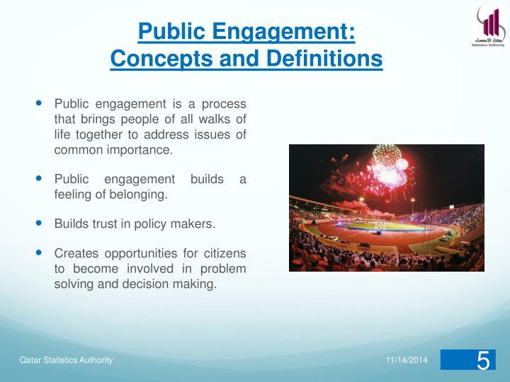 Public Engagement:
