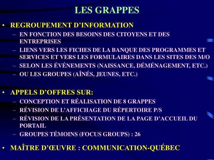 LES GRAPPES