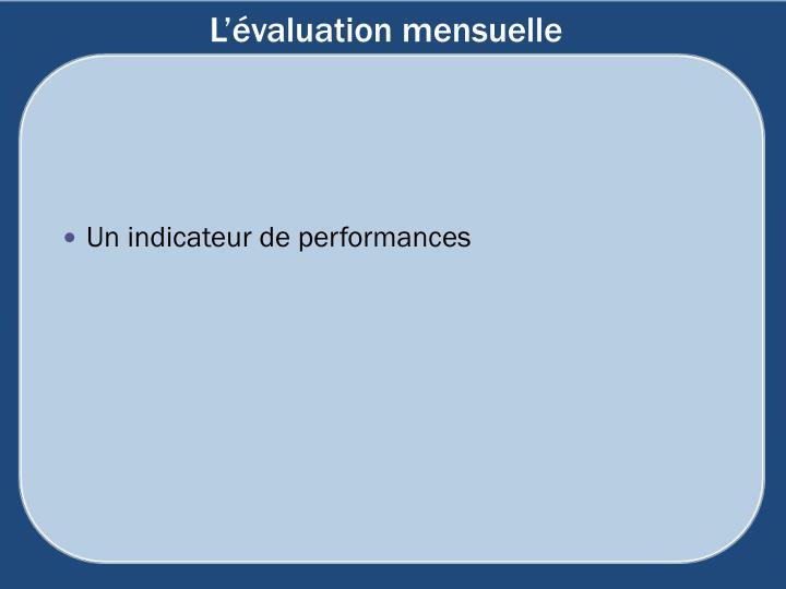 L'évaluation mensuelle