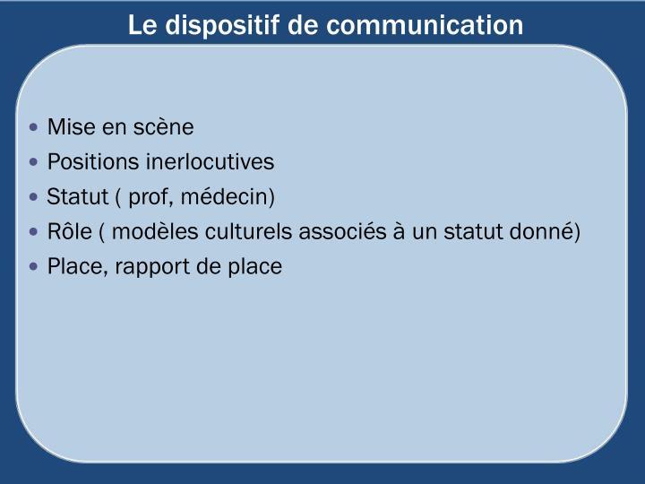 Le dispositif de communication