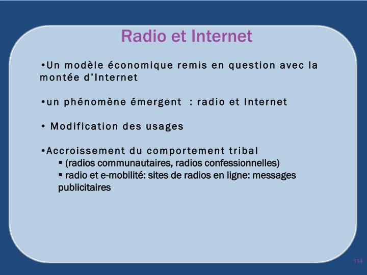 Radio et Internet