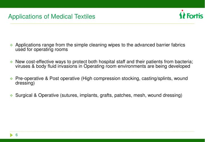 Applications of Medical Textiles