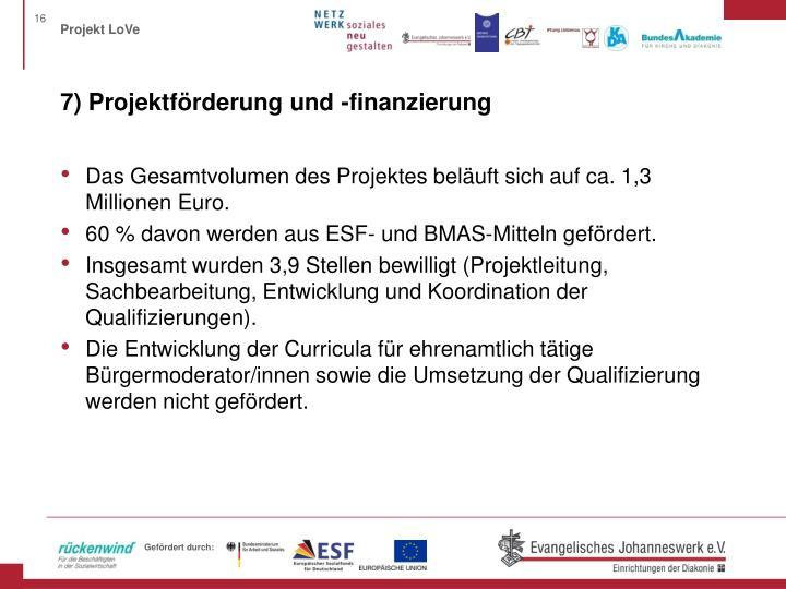 7) Projektförderung und -finanzierung