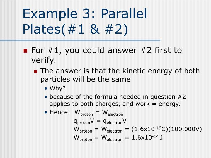 Example 3: Parallel Plates(#1 & #2)