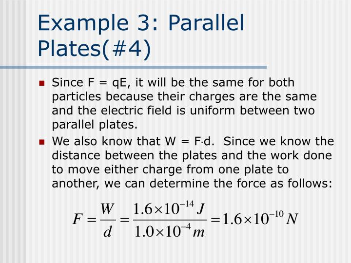 Example 3: Parallel Plates(#4)