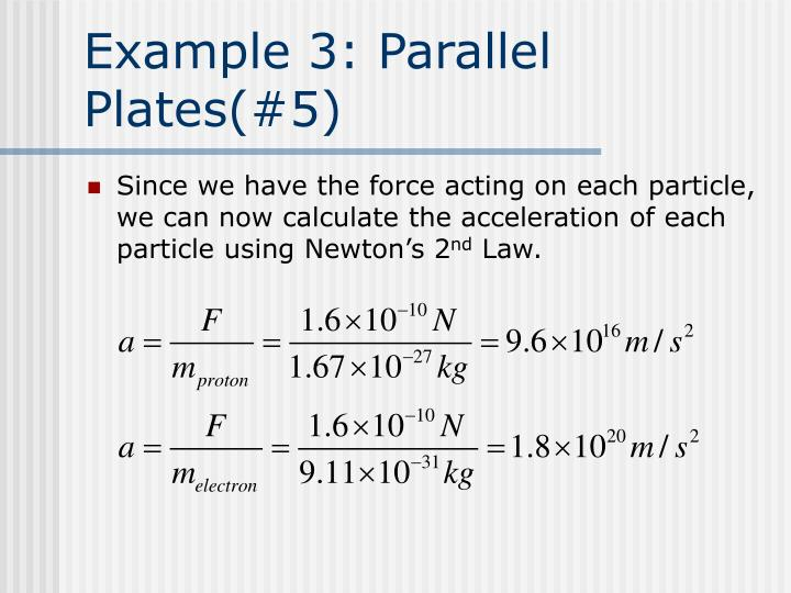 Example 3: Parallel Plates(#5)