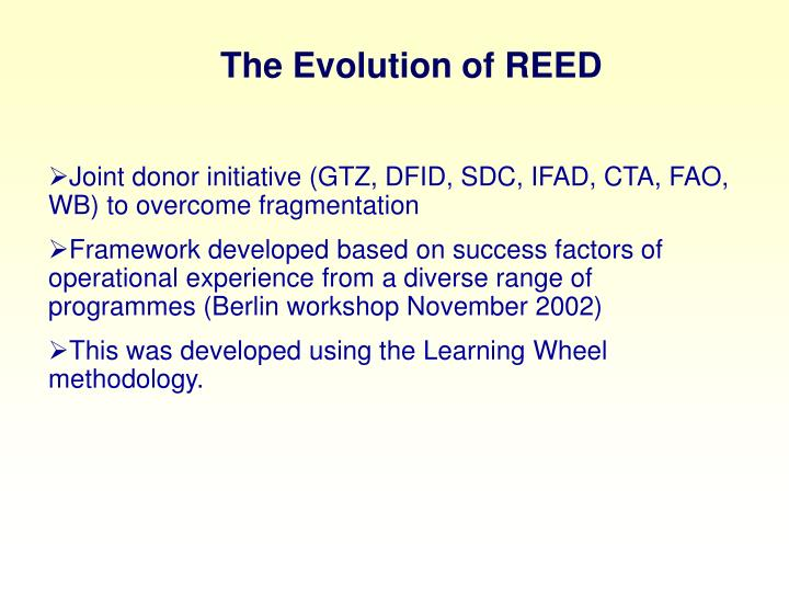 The Evolution of REED