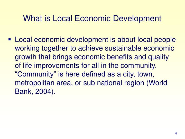What is Local Economic Development