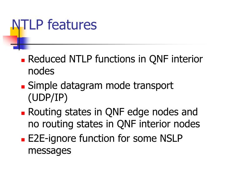 NTLP features