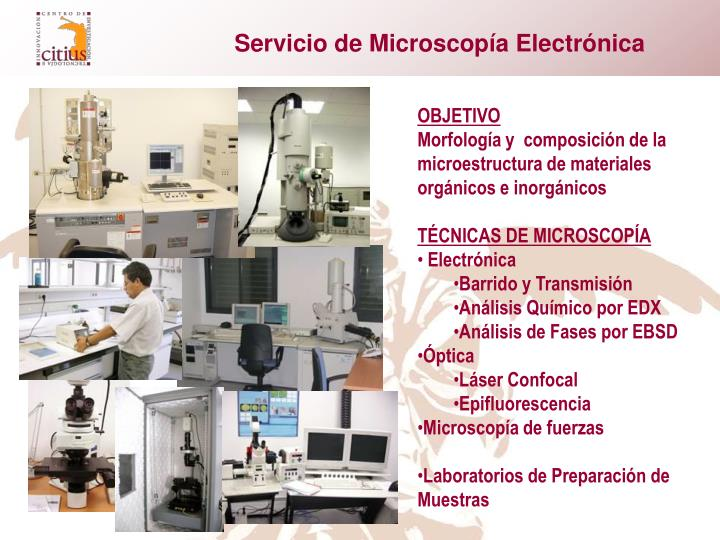 Servicio de Microscopía Electrónica