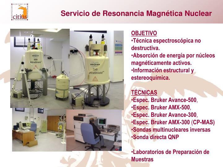 Servicio de Resonancia Magnética Nuclear