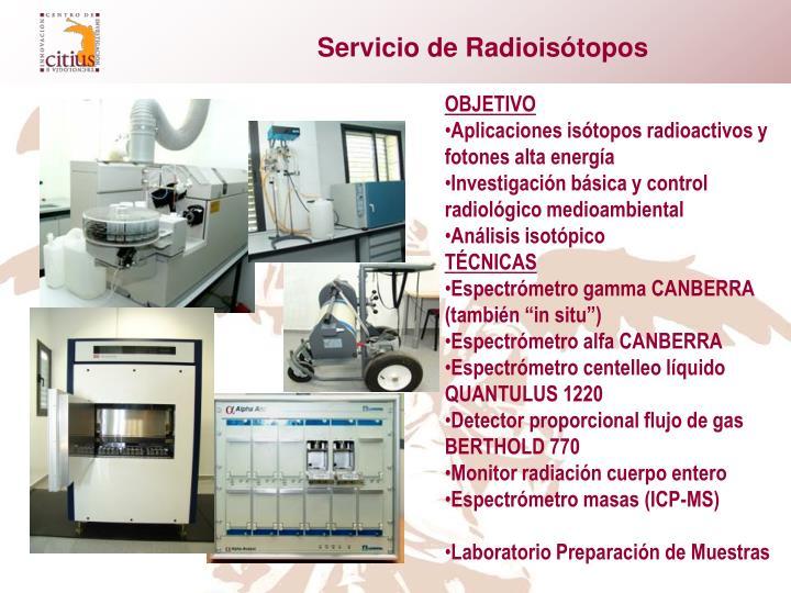 Servicio de Radioisótopos