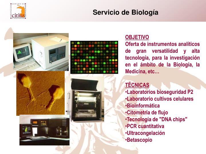 Servicio de Biología