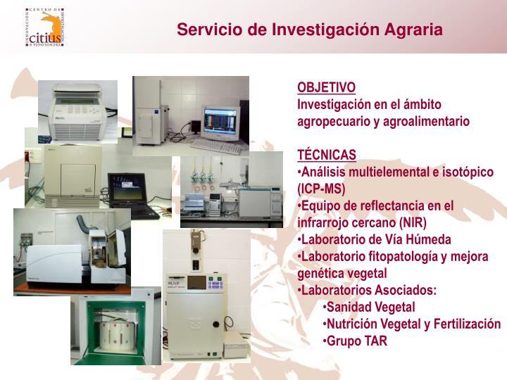 Servicio de Investigación Agraria