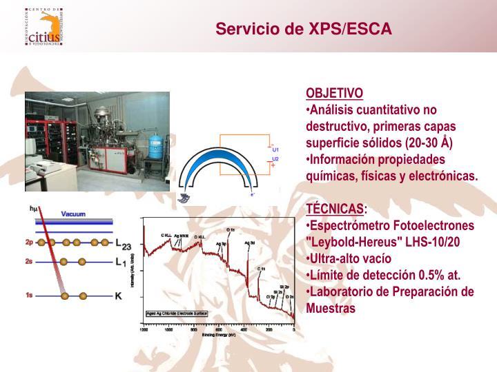 Servicio de XPS/ESCA