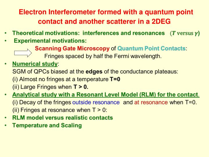 Electron interferometer formed with a quantum point contact and another scatterer in a 2deg