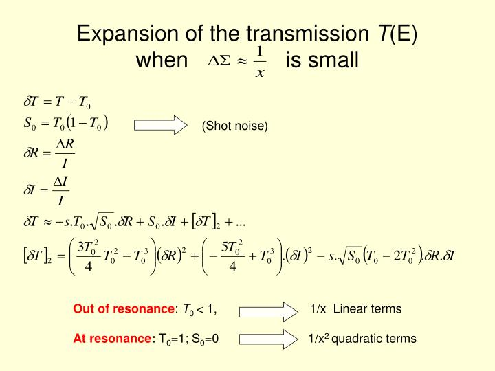 Expansion of the transmission