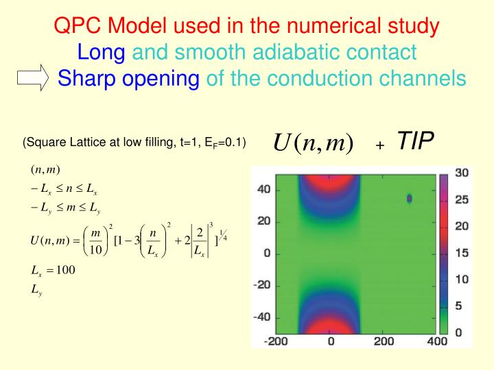 QPC Model used in the numerical study
