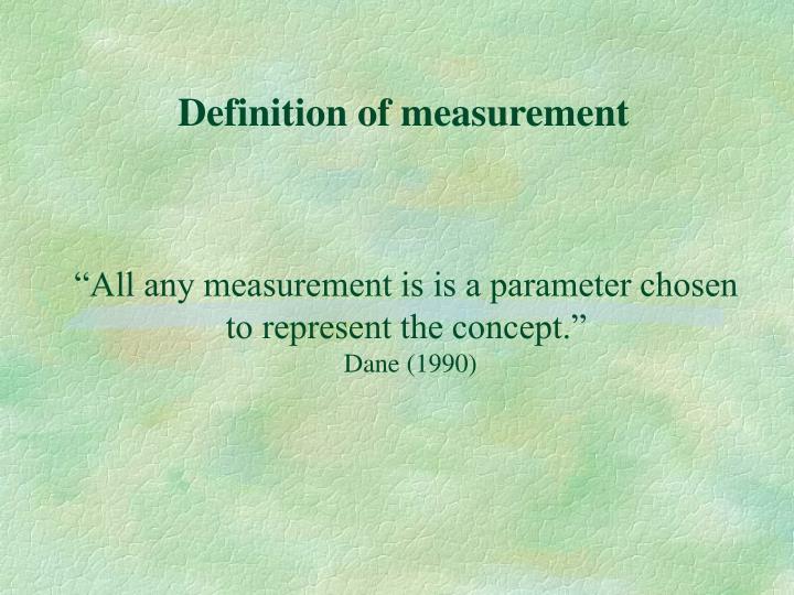 Definition of measurement