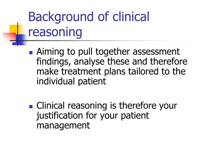 Background of clinical reasoning