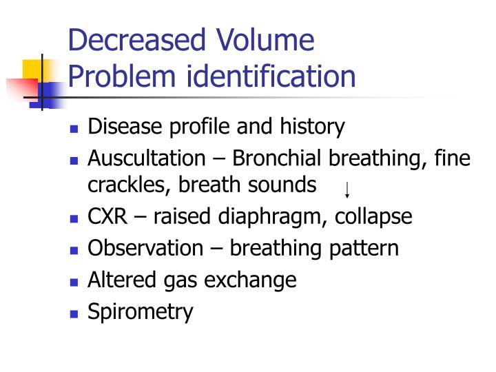 Decreased Volume