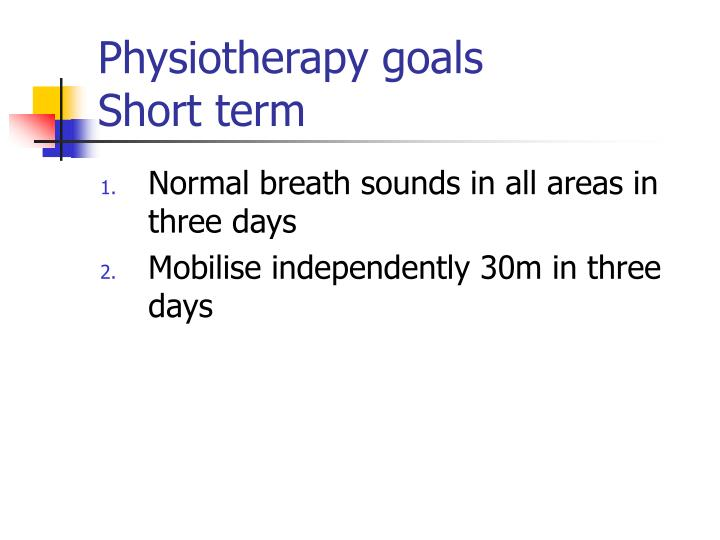 Physiotherapy goals