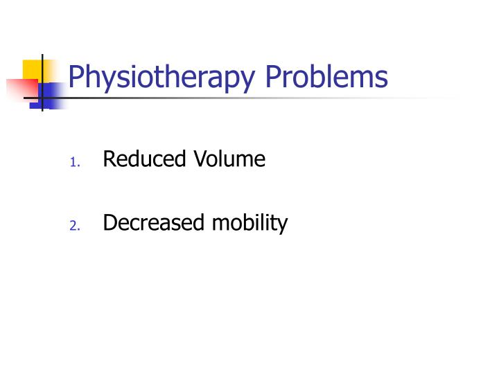 Physiotherapy Problems