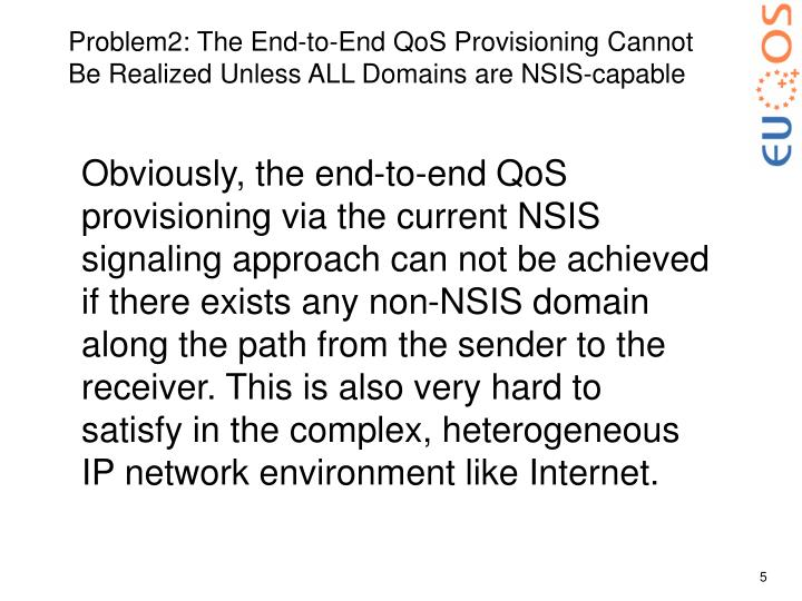 Problem2: The End-to-End QoS Provisioning Cannot Be Realized Unless ALL Domains are NSIS-capable