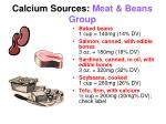 calcium sources meat beans group