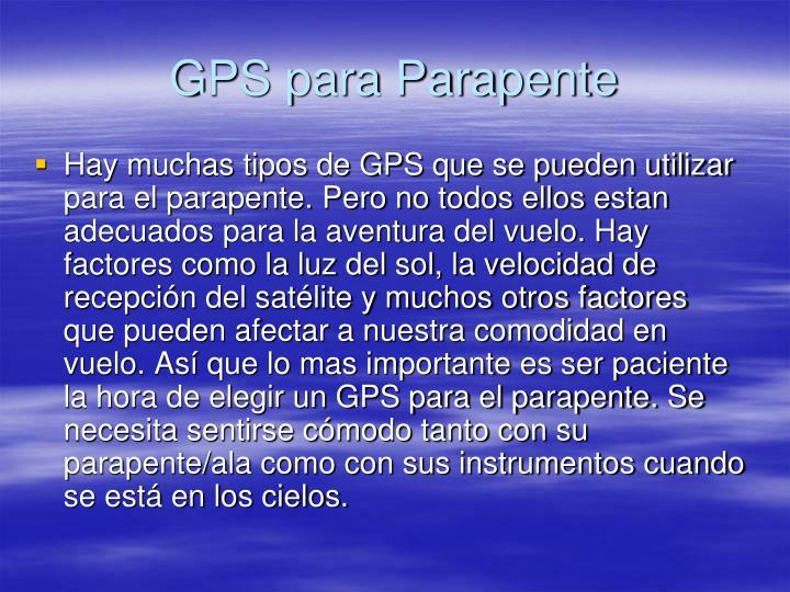 GPS para Parapente