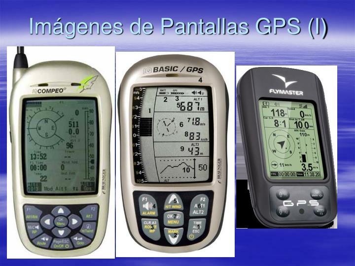 Imágenes de Pantallas GPS (I)