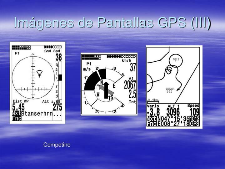 Imágenes de Pantallas GPS (III)