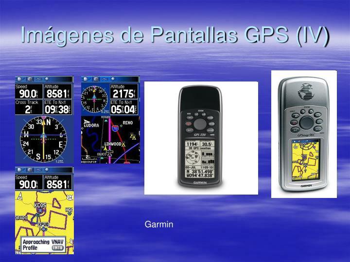 Imágenes de Pantallas GPS (IV)